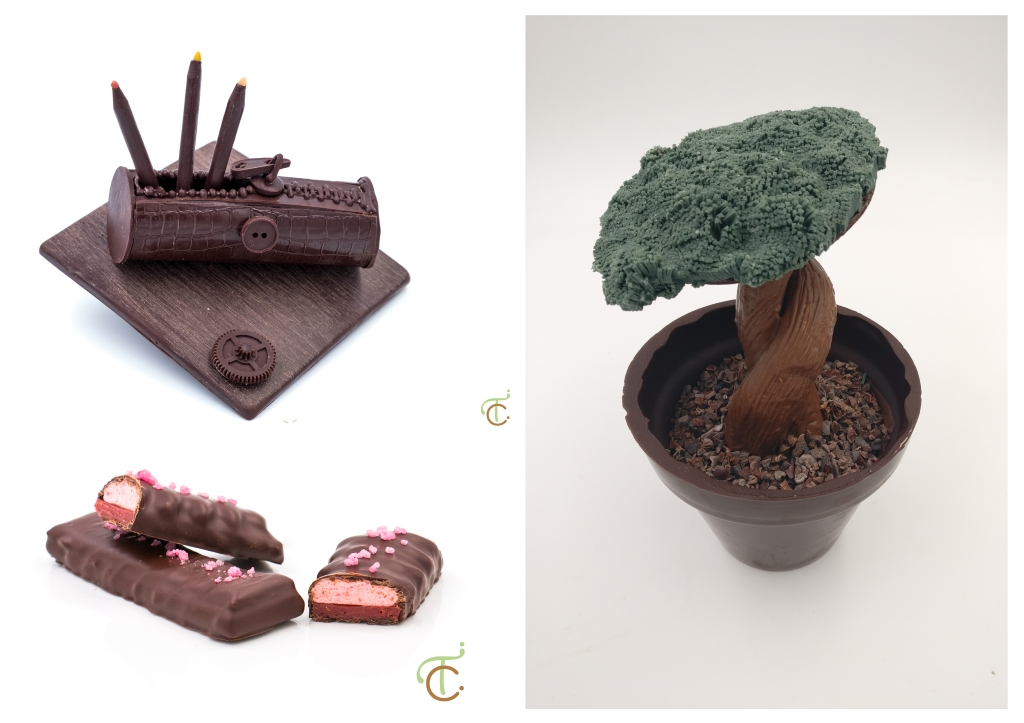 Portrait de femme : Tiphaine (création chocolats)