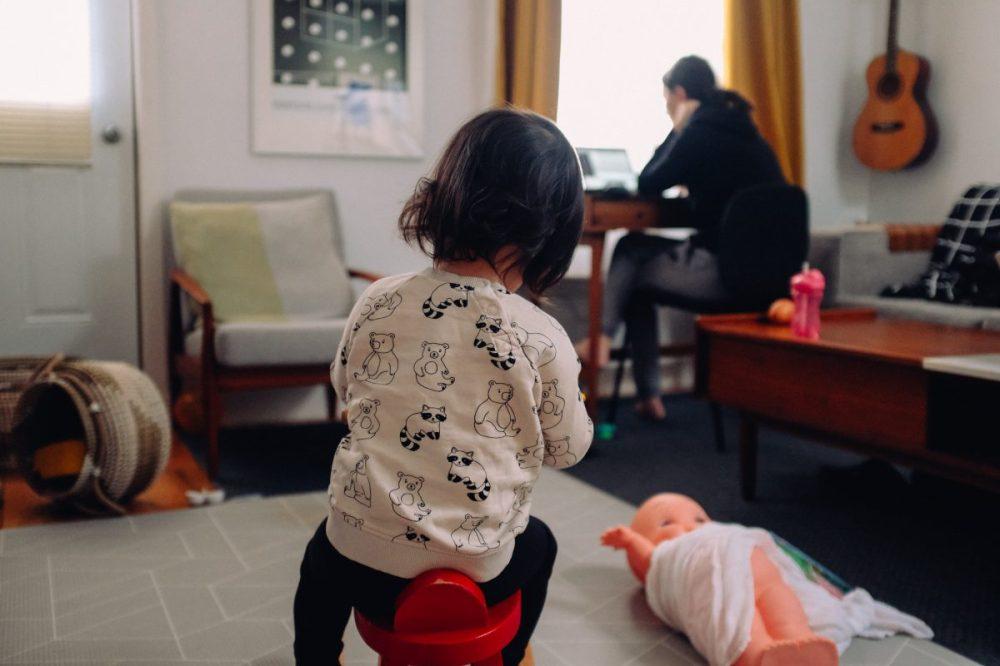 télétravail enfant confinement