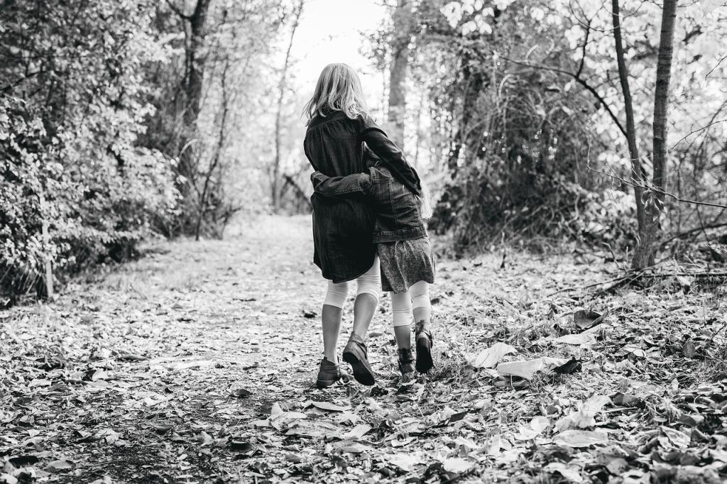 Sœurs fratrie filles bonheur