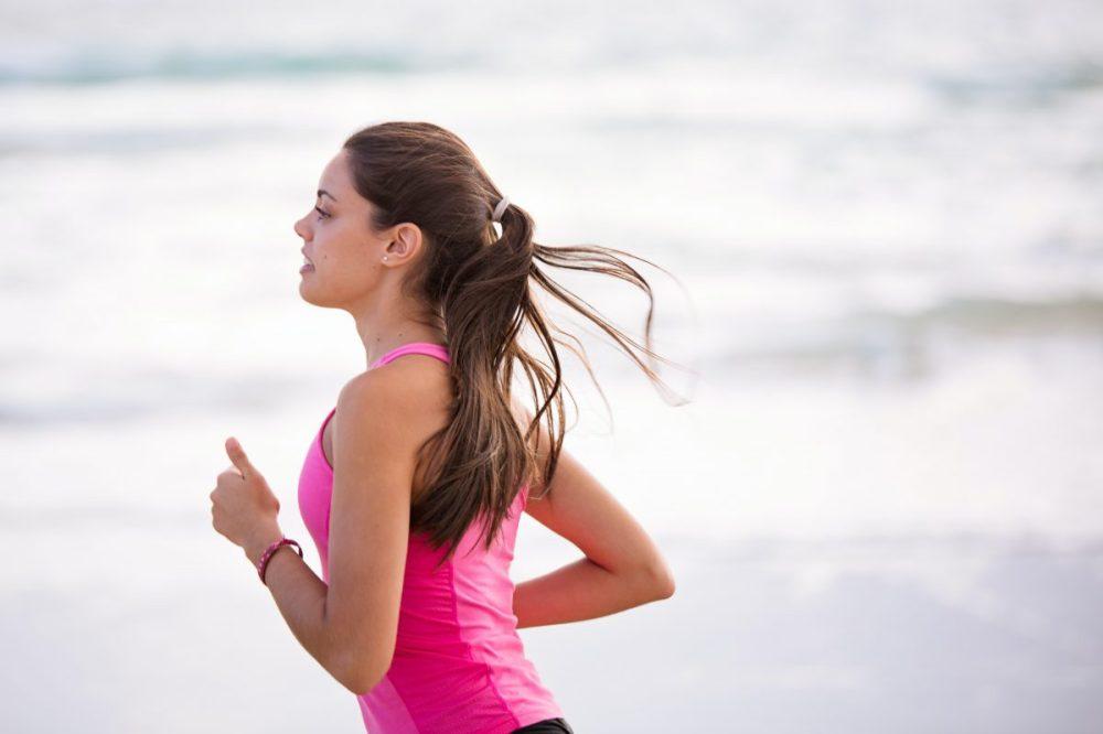 femme, course, jogging
