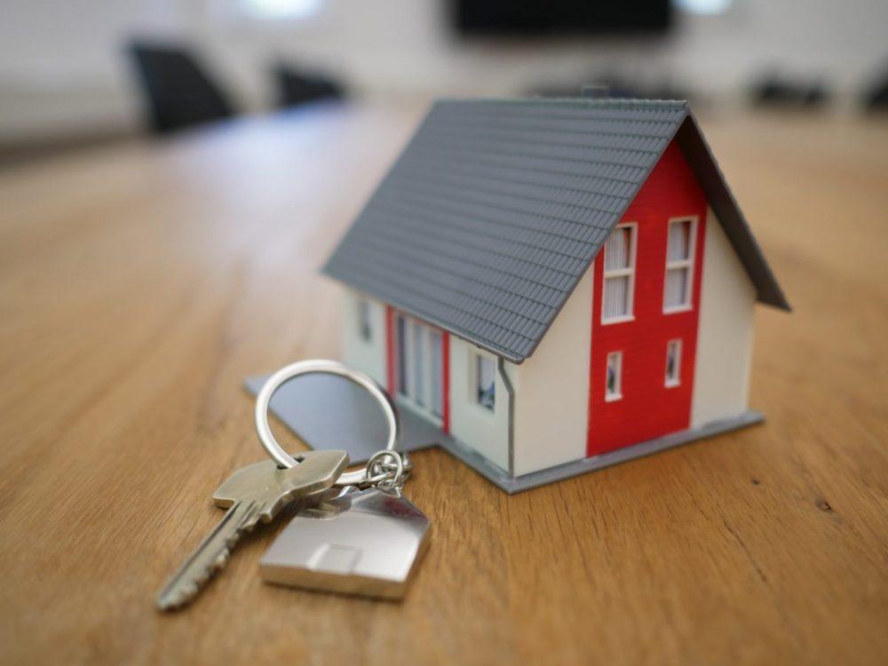 maison, porte clé