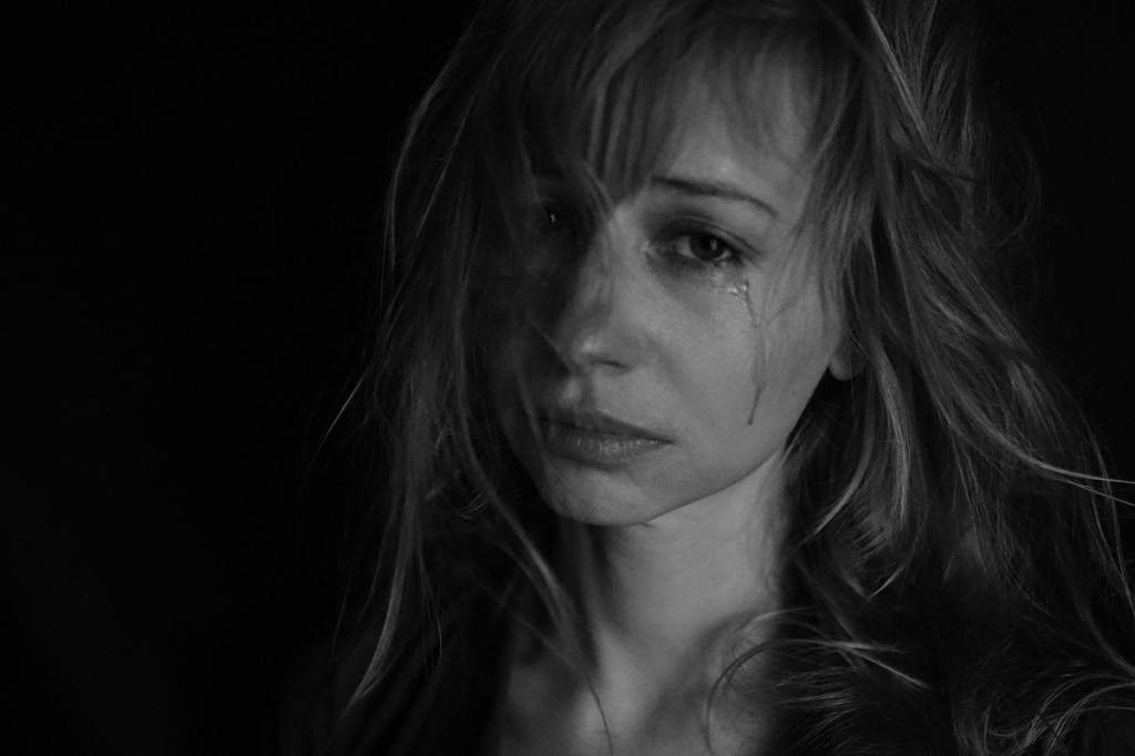 femme, larmes, dépression
