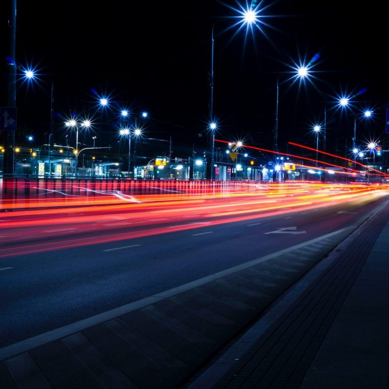 trafic routier, nuit